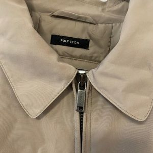 Claiborne Jackets & Coats - Claiborne Tan Poly Tech Full Zip Jacket - Large